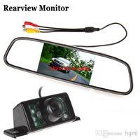Wholesale Inch TFT LCD Display Car Rear View Mirror Monitor IR Lights Night Vision Reverse Backup Camera CMO_345