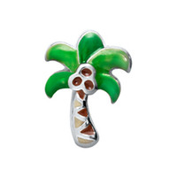 Wholesale 20pcs Origami Owl Palm Tree Floating Charms For Glass Lockets