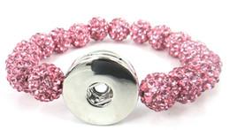 Free shipping New arrival pink pave ball crystal ball Metal Chunks Disco Ball Bracelet