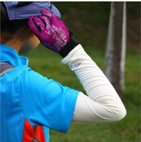 Wholesale Unisex Adult Stretch Sports Sun Block Anti UV Protection Gloves Elbow Length Driving Arm Sleeves Arm Cooling Sleeve Covers Golf