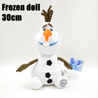 Wholesale Retail Plush OLAF cm inch frozen doll baby doll action figures plush toy Stuffed Animals snowman snow toys z