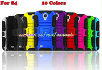 For Samsung Plastic  for Samsung Galaxy S4 I9500 S5 I9600 Note 3 Note3 N9000 Hybrid Tough Heavy Duty Soft Rubber Hard Kickstand cover case cases 100pcs 200pcs