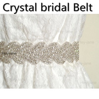 Wholesale Glass Crystal Pearl Luxury Bridal Sashes Wedding Dress Belts Prom Party Homecoming Dress Belt