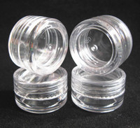 Wholesale Promotion g transparent small round bottle jars pot clear plastic container for nail art storage