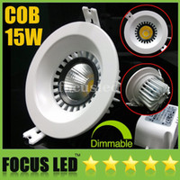Wholesale Led Downlights Watts - 4.5 inch-15W Watt 1500LM COB LED Downlights Recessed Lamps Warm Cool Nature White 4500K Fixture Ceiling Down Lights+Dimmable Non+CE&ROHS SAA
