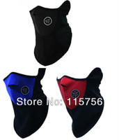Body Armors   Free shipping 30pcs lot Neoprene Neck Warm Half Face Windproof Mask Winter Veil For Sport Bike Bicycle Motorcycle Ski Snowboard
