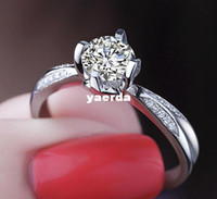 Wholesale Female ring sona diamond ring karat engagement simulation Ms Ring K Moissanite diamond spike PT950 Order