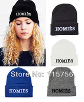 Wholesale Hip hop homies knitting wool Beanie Hat knitted cap HA