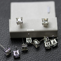 Jewels genuine diamond jewelry - 1 karat platinum plated sterling silver genuine SONA woman fashion diamond ear jewelry star models wild section E17