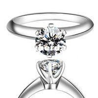 Wholesale Genuine American Moissanite Moissanite Loose Diamonds Loose diamond K gold custom PT950 platinum ring with CIQ certificate