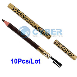 Wholesale New Perfect Waterproof Long lasting Eyeliner Eyebrow Eye Brow Pencil amp Brush Makeup