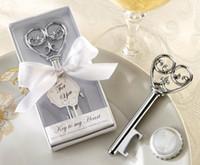 Bottle Openers heart bottle opener - Key To My Heart Bottle Opener In White Gift box Wedding favor quot Simply Elegant quot Key To My Heart Bottle Opener