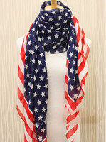 Wholesale American Flag Regular Scarf Patriotic Independence Day th of July USA flag
