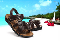 Wholesale Children walking shoes sandals Luo new leather sandals boys large baby boy beach sandals Specials