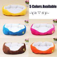 Wholesale Big Size L Cheap Colorful Pet Products Best Cat Bed Dog Animal Rabbit Cashmere Nest Soft Cotton Color Pink Brown Yellow Blue Orange