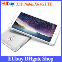 "ZTE 6.4 Android Original ZTE Nubia X6 Quad Core Snapdragon 801 MSM8974AB 2.3GHz 6.4"" IPS 1080P 32GB 13.0MP Dual Camera NFC 4G FDD-LTE Android 4.3 Phone"