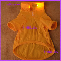 Wholesale Fashion cotton led dog clothing Pet Dog Clothes Apparel Cotton T Shirt Size XS S M L XL