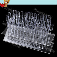 Mirror Toiletry Kits 5787# New 64 Tips Pop Sticks Nail Art Tips Nail Display Stand Nail Practice Training Tool Removable Rack + Display Plate 5787