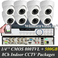 Wholesale Built in GB CMOS TVL ch Complete home video security system P2P Plug N Play HDMI P pc Dome IR Cameras palyback