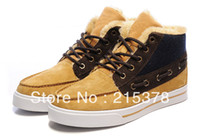 Half Boots Men PU Free shipping!New Men's fashion winter sneakers plush wool Skateboard shoes Brand leather leisure high-top outdoor boots black