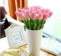 silk tulips - European high grade artificial flowers artificial flowers silk flower simulation Hot small tulip pu