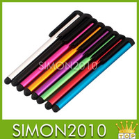 Wholesale 500pcs Stylus Capacitive Screen Stylus Pen Touch Pen For iPhone iPad iTouch Samsung Galaxy Samsuang Pad Tablet PC DHL