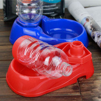 Automatic Feeders & Waterers Plastic Indoor Easy Pet Watering Bowl Pet Products Supply Accessories for Cats Dogs Autodrinker Cats Drinking Bowl Water Dispenser Blue Red 2 Color Choose