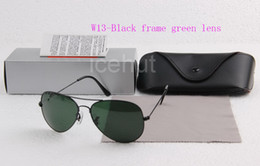 Wholesale 58 mm mm Men s Women s Metal Sunglasses Designer Sun glass Beach Sunglass UV400 Glass Lens