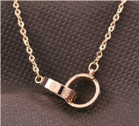 european bi rings - Fashion bi ring clavicle necklace lovers necklace