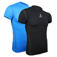 Wholesale Top Selling arsuxeo sports compression running Fitness Excercise cycling short sleeve Clothing shirt