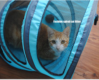 Wholesale Folding Nylon Cat House Great Pet Products for Cats Portable Kitty Bed fit for Climbing Playing or Carriers also a Fashion Spiral Cat Hole