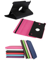 Wholesale 360 Degree Rotating Flip PU Leather Cover Stand Holder Case With Sleep Wake Up Function For Samsung Galaxy Tab inch T330 Tab4 Tablet PC