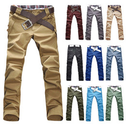 Wholesale 2014 New Hot Sale Men s Pants Casual Straight Pants Men Slim Fit Elegant Classic Longs Mens Trousers M L XL XXL MCK1001