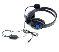 PS4 PS4  Headphone for PS4 Luxurious Wired Headset for Sony Playstation 4 Top Quality Headphones Free DHL