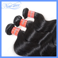 Wholesale Full bundles New star Brazilian remy hair body wave dyed color jet black from a single donor cuticles are intact