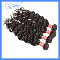 Wholesale 4bundles mixed new star trade company brazilian virgin hair perm wave more wavy human hair extension weaves natural color