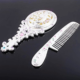 Wholesale Vintage quaint mermaid Royal queen bride COMPACT MIRROR COMB Set Classic top grade cosmetic comb set item for women A grade mirrors combs
