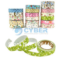 Wholesale DIY Flower Pattern Cloth Adhesive Tape Decorative Sticker Tape Stationery