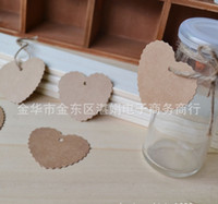 Wholesale NEW Mini Tag Lovely Small Kraft Heart Tag Gift Tag Retro Hang tag gsm Kraft paper material