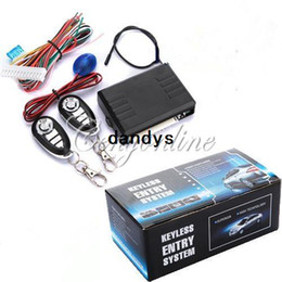 Wholesale Universal Car Auto Alarm System Remote Control Central Door Lock Locking Keyless Entry System Kit Controllers dandys