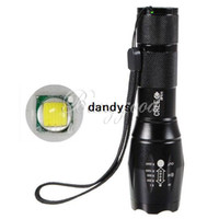 Wholesale UltraFire E17 CREE XM L T6 Lumens High Power Torch Zoomable LED Flashlight Torch light For xAAA or x18650 dandys