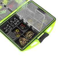 Wholesale Assorted Fishing Fish Tackles Swivels Lures Snap Jigs Beads Hooks Box g GZ2 dandys