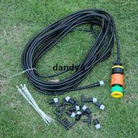 Wholesale Hot m Ft Outdoor Garden Misting Cooling System Plastic Mist Nozzle Sprinkler dandys