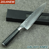 Wholesale 2014 NEW HOT inch Japanese VG10 Damascus steel kitchen knife chef knives with Forged Black Micarta handle