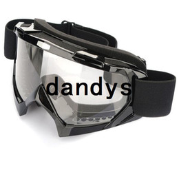 Wholesale Super Black Motorcycle Bike ATV Motocross Ski Snowboard Off road Goggles FITS OVER RX GLASSES Eye Lens dandys