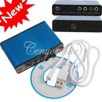 6 audio for xp - USB Channel External Optical Audio Sound Card Surround Adapter S PDIF for Laptop PC XP Win7 g dandys