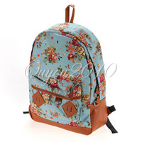 Wholesale Sweet Women girl lady Fashion Vintage Cute Flower College School Book Campus Travel Bag Backpack the Knapsack Canvas Rucksack dandys