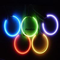 12v ccfl - 2x mm Car Auto CCFL Angel Eyes Halo Rings Light Lamp Headlight W V White Blue Red dandys