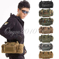 Wholesale 7 Styles Utility Tactical Waist Pack Pouch Military Camping Hiking Outdoor Sport Adjustable Nylon Waterproof Bag dandys