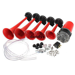 Wholesale x Red Trumpet Musical DIXIE Car Duke of Hazzard Compressor V db Air Horn dandys